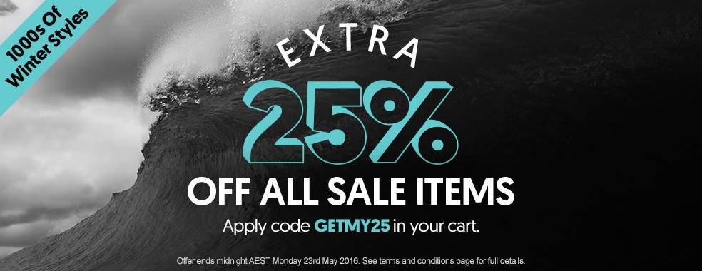 时尚网站 Surf Stitch 所有特价商品在折扣价基础上 额外七五折!