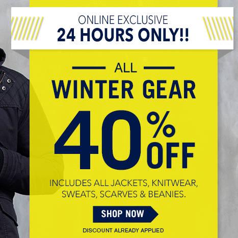 澳洲男装品牌 Connor 所有冬季服饰 六折优惠!