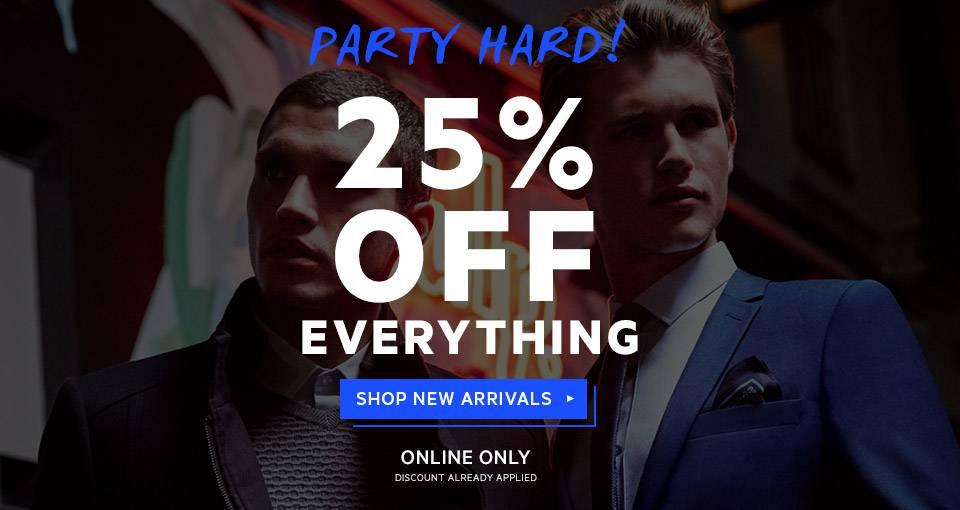 澳洲男装品牌 YD 全网所有商品 七五折优惠!