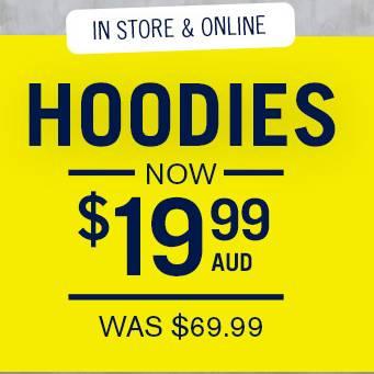 澳洲男装品牌 Connor 拉链帽衫$19.99!