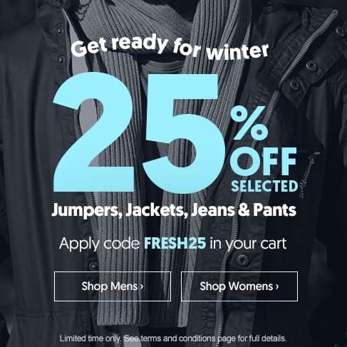 时尚网站 Surf Stitch 部分冬季服装 七五折优惠!