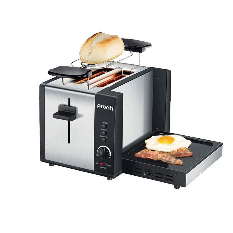 PRONTI 三合一 烤面包机 早餐神器 烤面包+煎蛋 55折优惠!