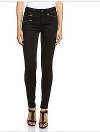 Jag黑色拉链高腰修身牛仔裤 $139.95