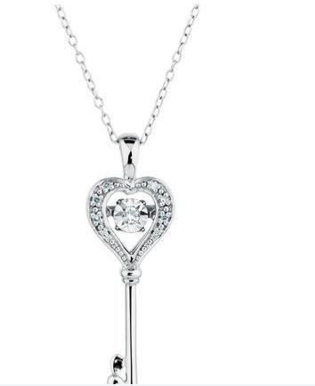 EVERLIGHT标准纯银钻石吊坠 折扣价$329