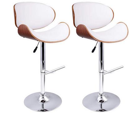 木制白色曲线型座椅高脚椅 仅售:$219.00