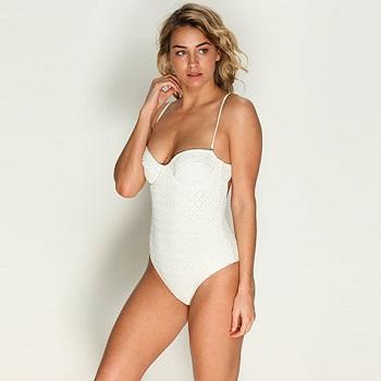 Billabong白色连身泳衣 现价$79!