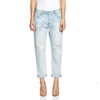 Levi's 501破洞女式牛仔裤 只要$59.95!