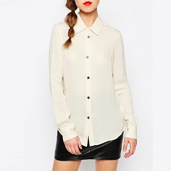 Love Moschino经典白衬衫 现价$271!