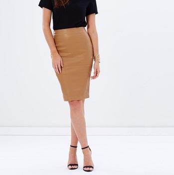 A & H PU铅笔裙 现价$55.96!
