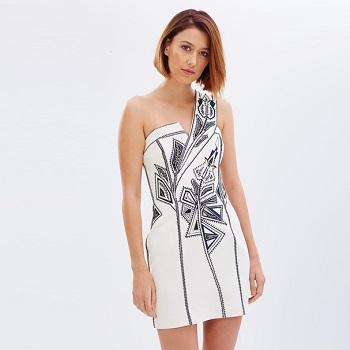Sass & Bide刺绣连衣裙  折后$241.5!