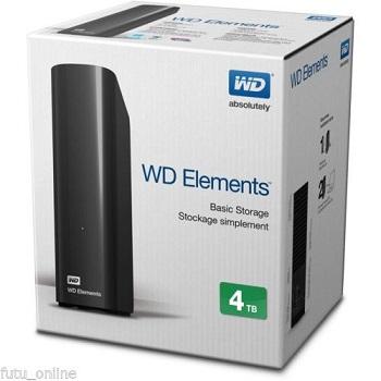 西部数据 WD 4TB 外接桌面硬盘 折后$169.6!