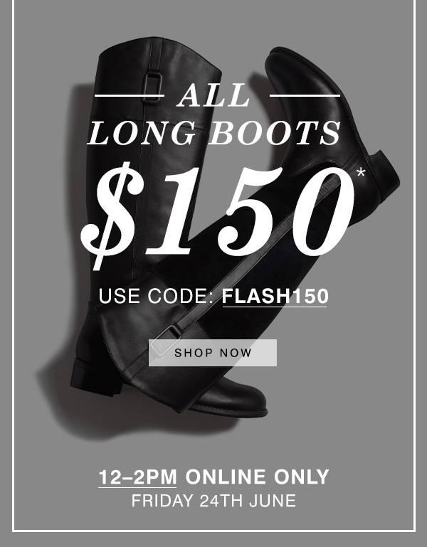 时尚品牌Hush Puppies 所有女士长筒靴 只要$150!