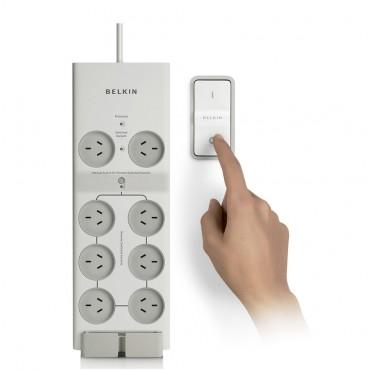 Belkin 8插座安全插线板+无线控制器 团购价只要$63.2!