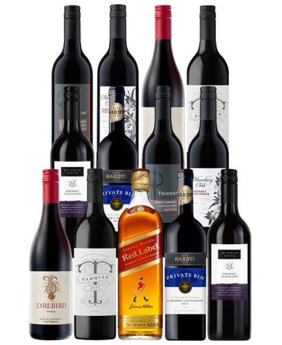 Johnnie Walker 红标威士忌 + 12瓶红酒只要$79.2!