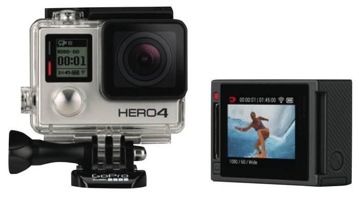 GoPro Hero 4 SLIVER 运动摄像机-银色版 折后$420!