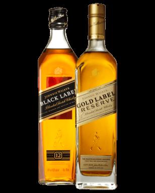 Johnnie Walker 黑标 + 金标 苏格兰威士忌 两瓶只要$100!