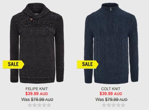 澳洲男装品牌 Connor 特价毛衣仅从.99起!