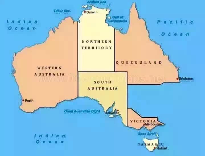 最新版澳洲地图是这样的
