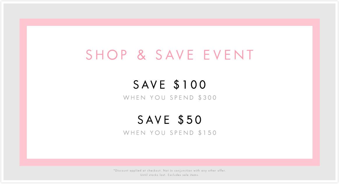 时尚品牌Guess满减活动:购物满$150减$50!满$300减$100!