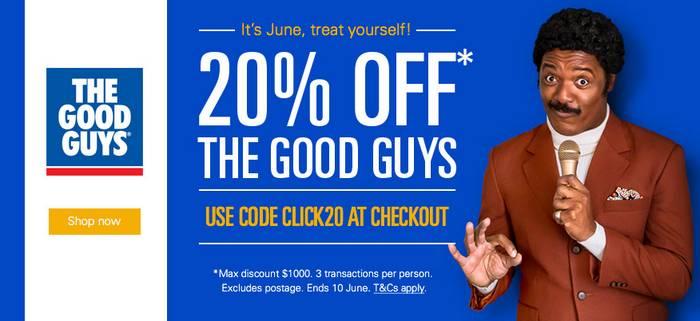 The Good Guys eBay店:全场八折优惠!