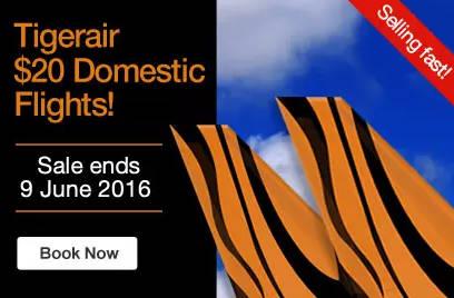 虎航澳洲境内机票仅从$20起!