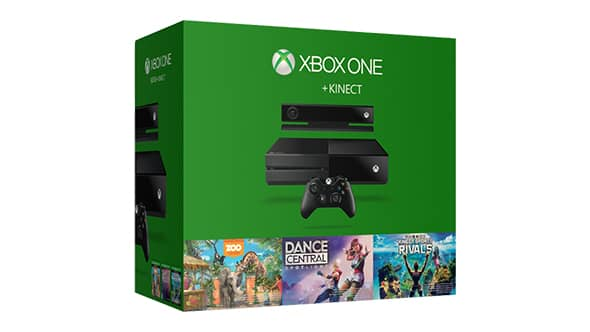微软 Xbox One 500GB主机 + Kinect 现价$399!