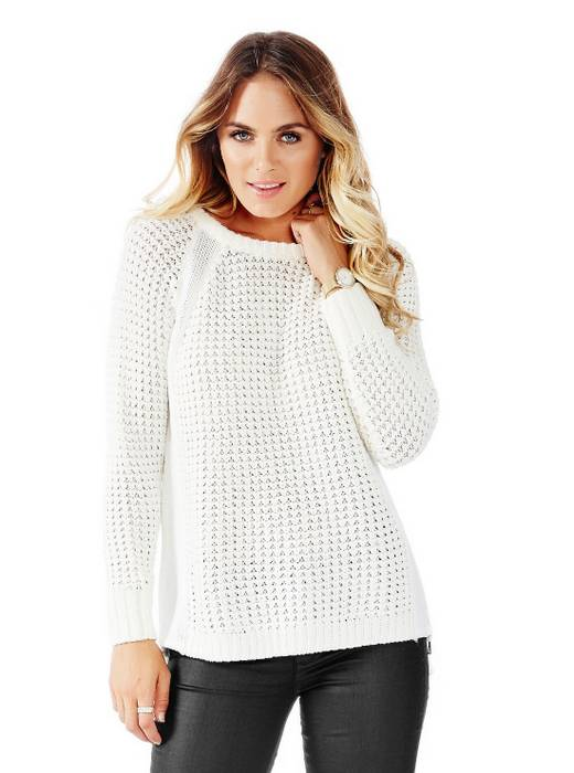Guess METALLIC Knit 女子侧拉链长袖毛衣 现价$89.95!