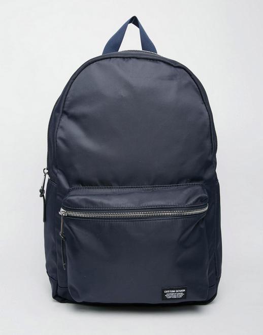New Look 双肩包-海军蓝色  现价$27!