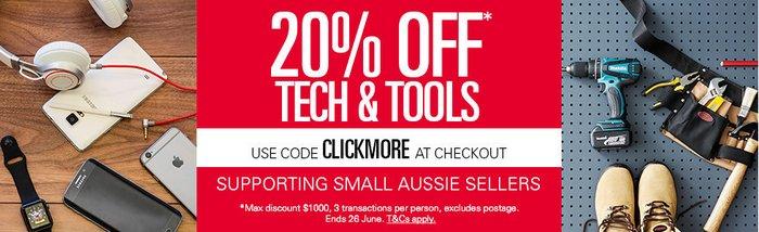 澳洲eBay超级打折季活动:电子产品及工具类商品 八折优惠!