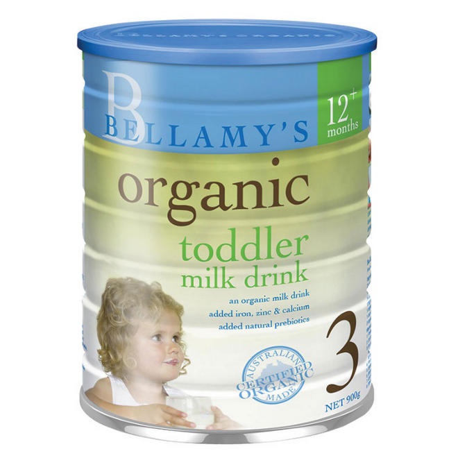 Bellamy's Organic Toddler Drink 贝拉米婴儿有机奶粉3段 900g 现价$24.99!