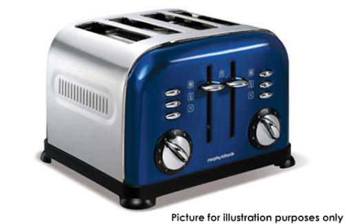 Morphy Richards 蓝色磨光/不锈钢/4片 烤面包机  $63.96!