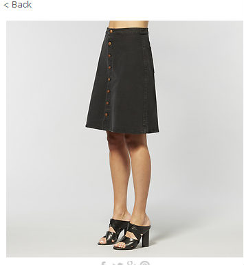 ABBEY SKIRT LUNAR BLACK 老式水洗A字裙 $119.95!