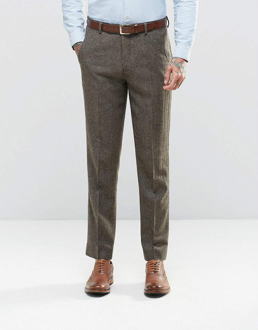 ASOS 粗花呢修身休闲裤 超值 $65