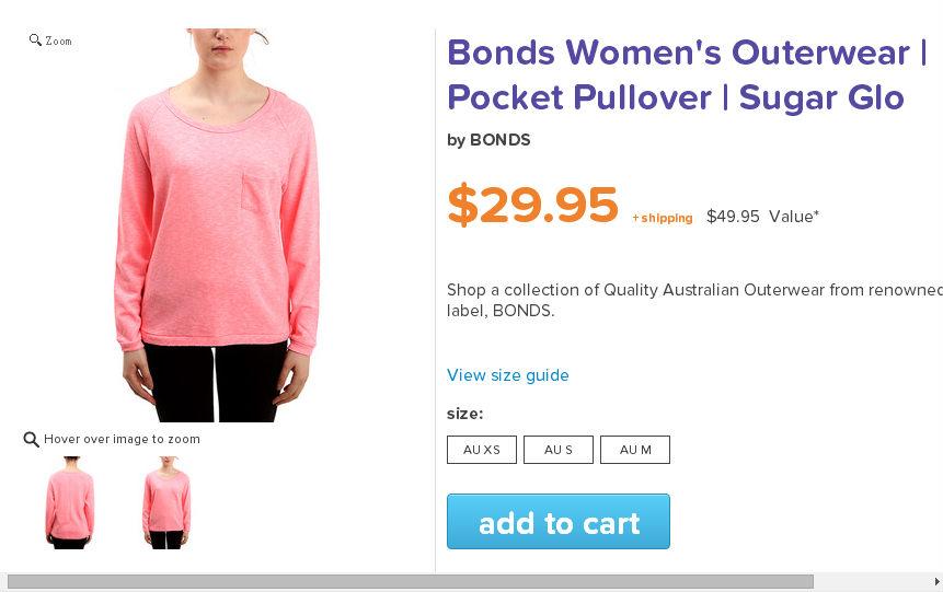 Bonds 女士圆领毛衫  $29.95