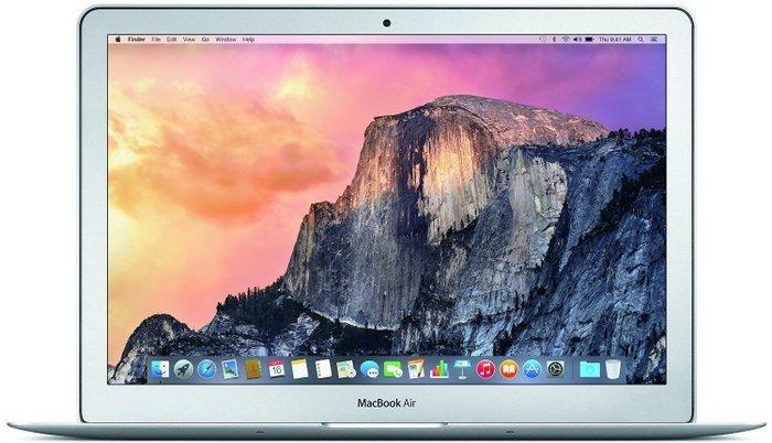 苹果 MacBook Air 13.3″/i5/256GB/8GB/银色/2015年版 折后$1519!