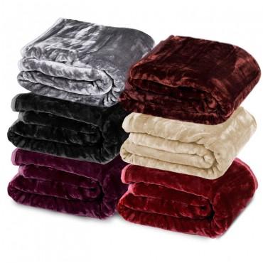 XL Faux Mink 人造皮草毛毯 团购价只要$59!