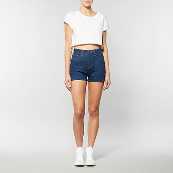 Lee 女士靛蓝色月亮短裤   $65.00