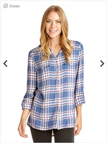 Just Jeans Hailey 格子条纹长袖女士衬衫 折后$41.96!