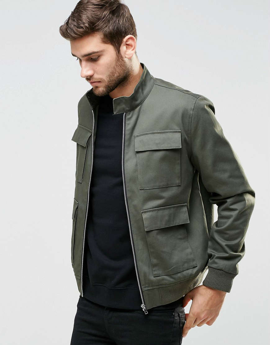 ASOS Harrington 男士夹克衫-卡其色   $87!