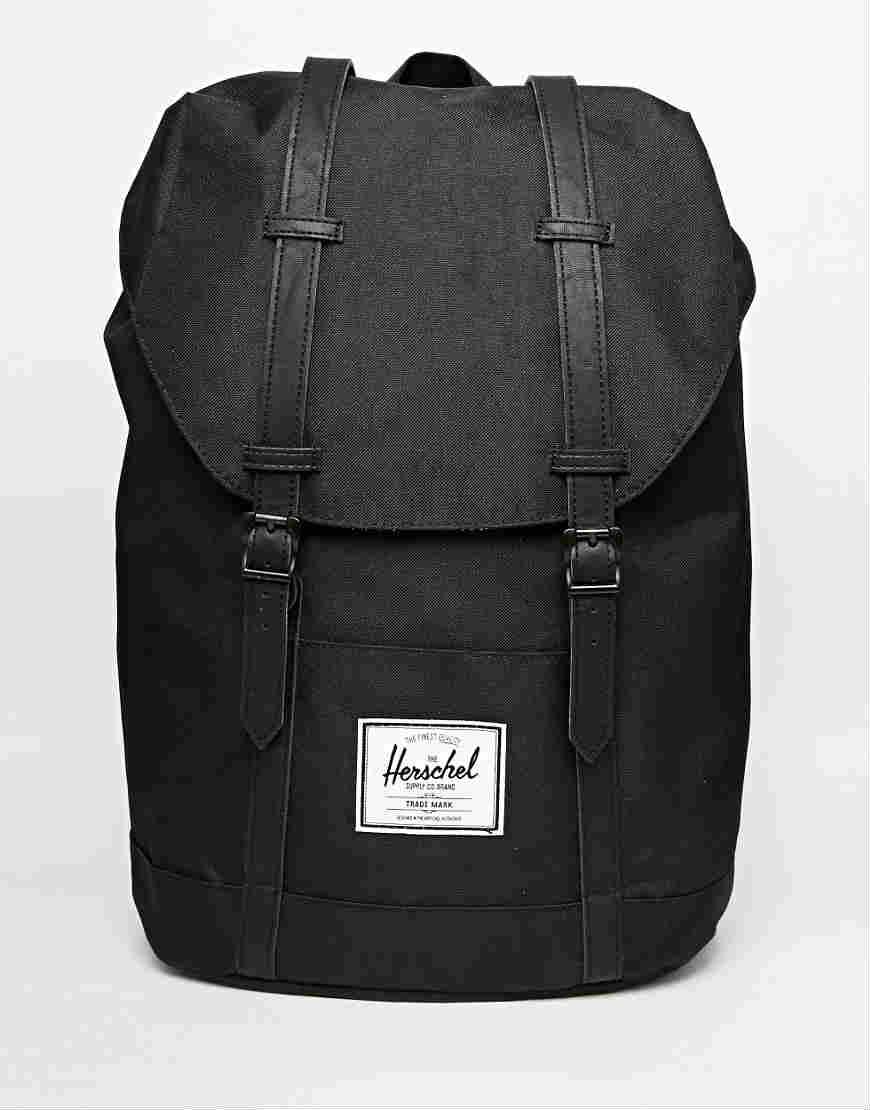 Herschel 黑色男款背包  $118.00