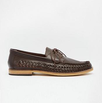 Frank Wright 男士编织休闲鞋 棕色 现价$78!