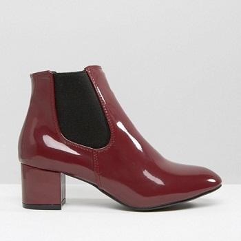 Daisy Street 切尔西靴-紫红色 现价$60.5!