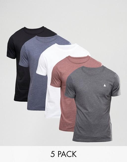 ASOS 男士T恤 5件装  现价$52!
