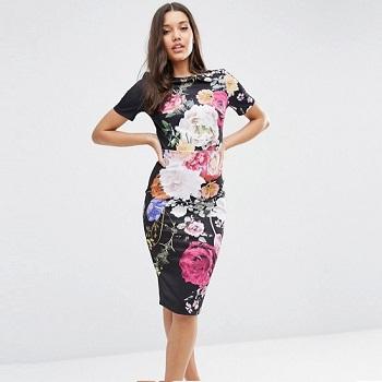 ASOS 印花连衣裙 现价$83!