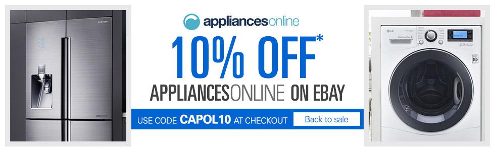 澳洲家电网购商城Appliances Online eBay店 全场所有商品九折优惠!