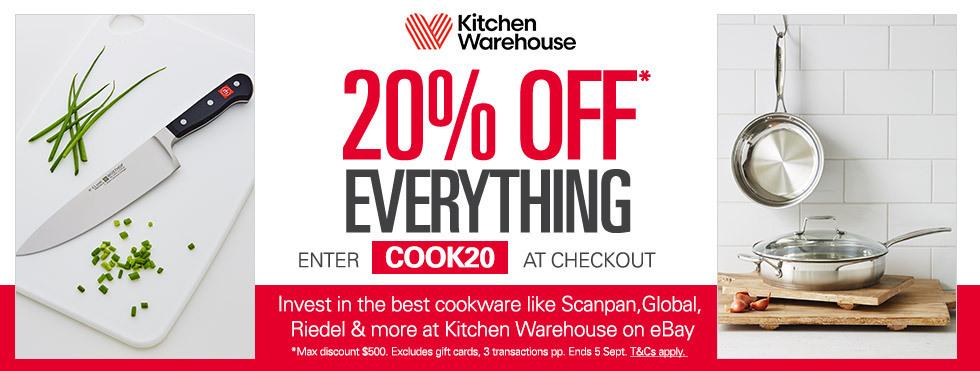 厨房用品专卖 Kitchen Warehouse eBay店全场所有商品 八折优惠!