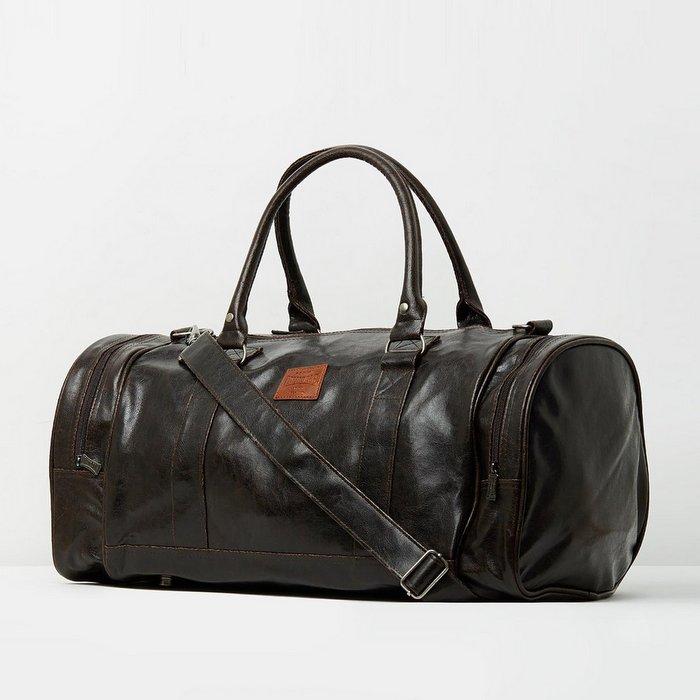 英国龙狮戴尔/Lonsdale Carnaby Duffle 桶型旅行袋-棕色 $99.95!