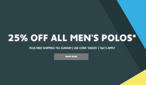 法国鳄鱼 Lacoste 父亲节活动:所有男士 Polo衫 75折优惠!
