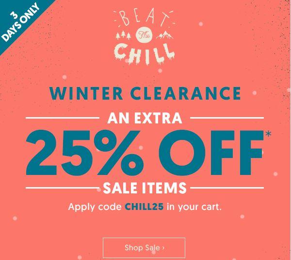时尚网站 Surf Stitch 冬季清仓活动:所有折扣类商品 用码后可享额外七五折优惠!