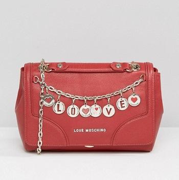 Love Moschino 红色链条单肩包 现价$475!